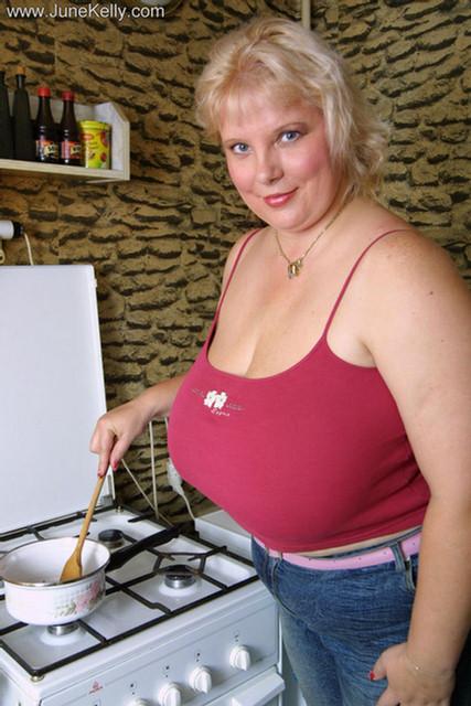 Big tits milf June Kelly